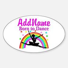 BORN DANCING Sticker (Oval)