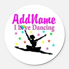FOREVER DANCING Round Car Magnet