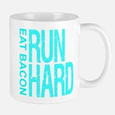 Run Hard Eat Bacon Mugs