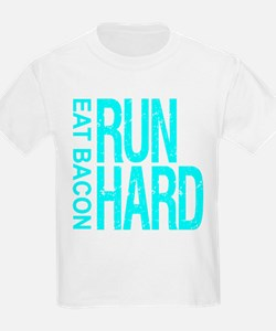 Run Hard Eat Bacon T-Shirt