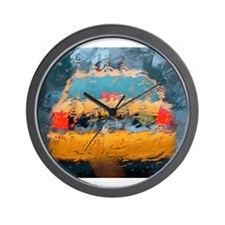 NYC Taxi: Wet Series Wall Clock