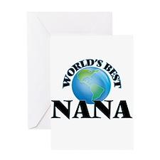 World's Best Nana Greeting Cards