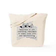 Knitting Happiness Tote Bag