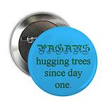 Pagan Tree Hugging Button