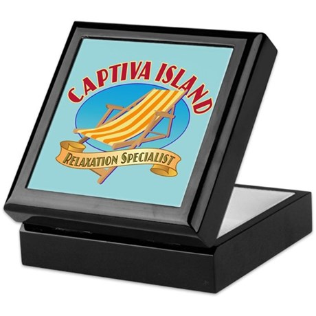 Captiva Island Relax - Keepsake Box