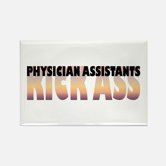 Physician Assistants Kick Ass Rectangle Magnet
