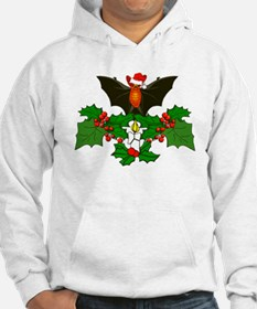 Christmas Holly With Bat Jumper Hoody