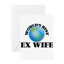 World's Best Ex-Wife Greeting Cards