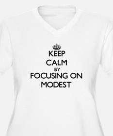 Keep Calm by focusing on Modest Plus Size T-Shirt