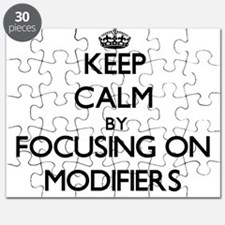 Keep Calm by focusing on Modifiers Puzzle