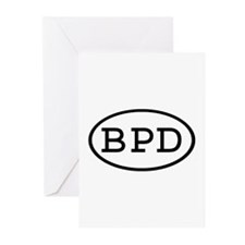 BPD Oval Greeting Cards (Pk of 10)