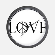 LovePeaceII.png Wall Clock