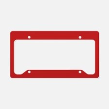 Solid Red Accent Color Patter License Plate Holder