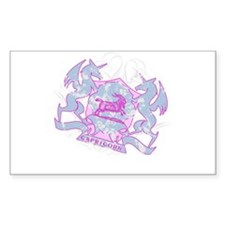 Capricorn Pink Zodiac Rectangle Decal