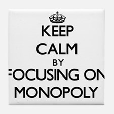 Keep Calm by focusing on Monopoly Tile Coaster