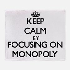 Keep Calm by focusing on Monopoly Throw Blanket