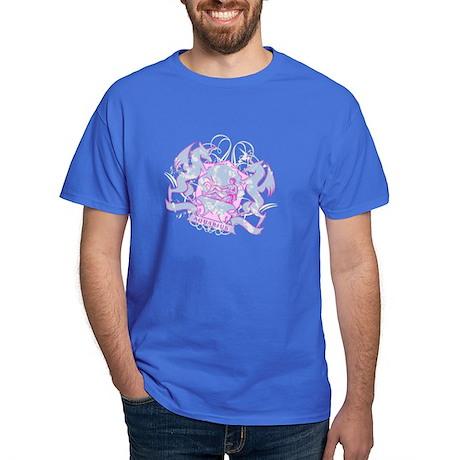 Aquarius Pink Zodiac Dark T-Shirt