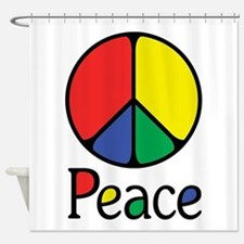 Emphatic Peace Colours Shower Curtain