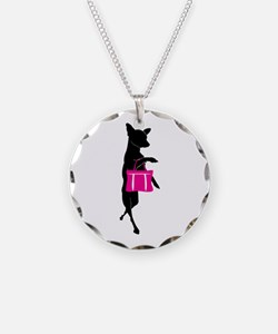 Silhouette of Chihuahua Goin Necklace