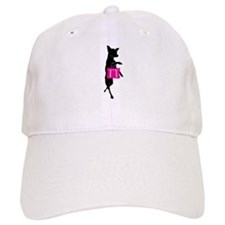 Silhouette of Chihuahua Going Shopping Baseball Cap