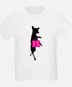 Silhouette of Chihuahua Going S T-Shirt