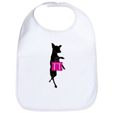 Silhouette of Chihuahua Going Shopping Bib