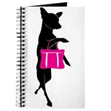 Silhouette of Chihuahua Going Shopping Journal
