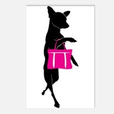 Silhouette of Chihuahua G Postcards (Package of 8)