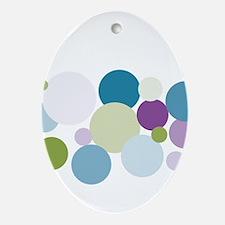 Dots Ceramic Oval Ornament