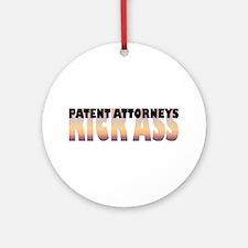 Patent Attorneys Kick Ass Ornament (Round)