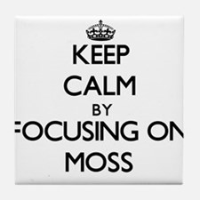 Keep Calm by focusing on Moss Tile Coaster