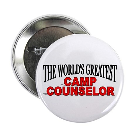 """The World's Greatest Camp Counselor"" Button"