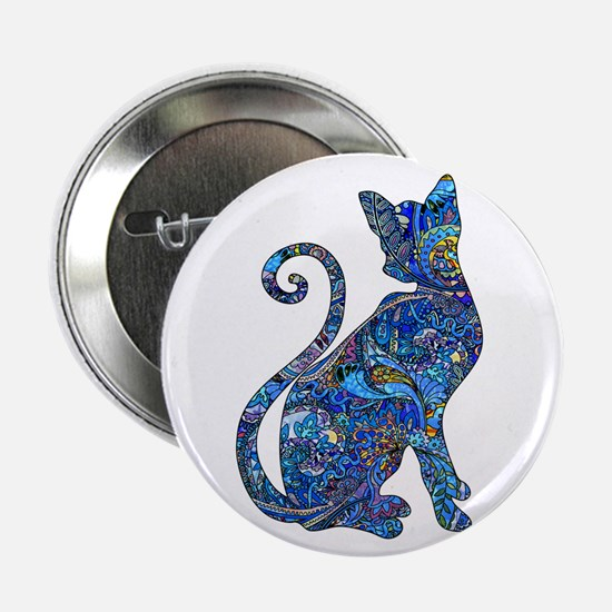 """Cute Cat design 2.25"""" Button (10 pack)"""