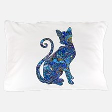 Unique Blue cat Pillow Case