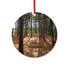 Pines in Sun Ornament (Round)