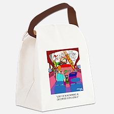 Parking Cartoon 8849 Canvas Lunch Bag