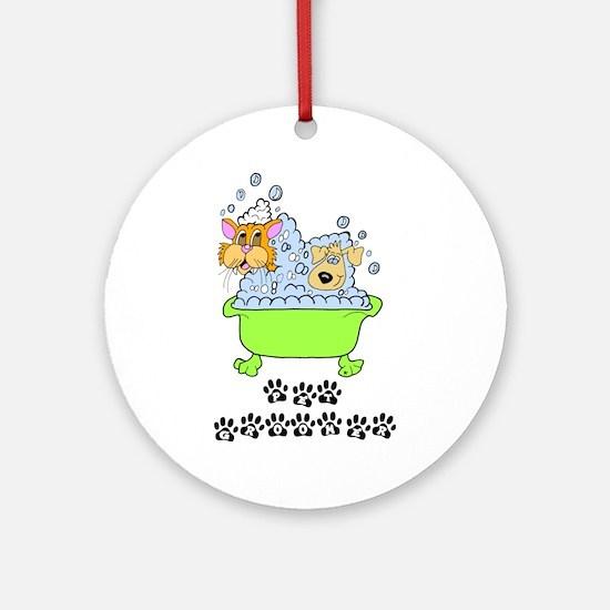 Pet Groomer Ornament (Round)
