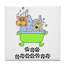 Pet Groomer Tile Coaster