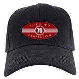 Funny 70th birthday Black Hat