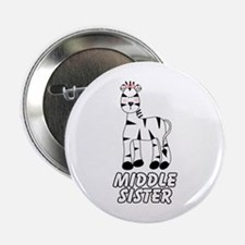 Zebra Middle Sister Button