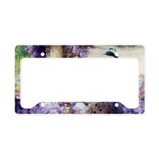 Bidau Peacock, Doves, Wisteri License Plate Holder