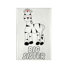 Zebra Big Sister Rectangle Magnet