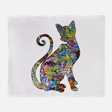 Unique Cat art Throw Blanket