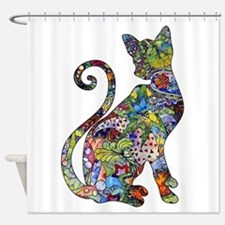 Cute Cat vintage Shower Curtain