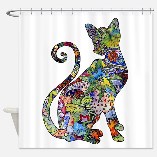 Funny Wild cat Shower Curtain