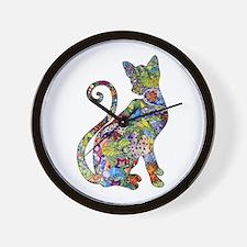 Cute Cat vintage Wall Clock