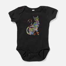 Unique Cat art Baby Bodysuit