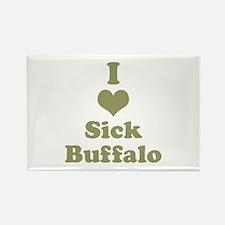 I Heart (Love) Sick Buffalo Magnets