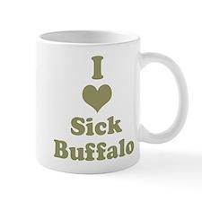 I Heart (Love) Sick Buffalo Mugs