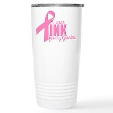 Pink For My Grandma Travel Mug